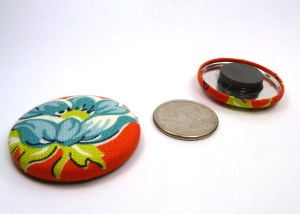 orange and blue flower large magnets fridge magnets (1)