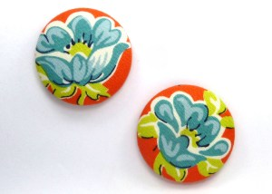 orange and blue flower large magnets fridge magnets (2)