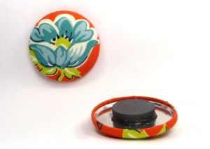 orange and blue flower large magnets fridge magnets (3)