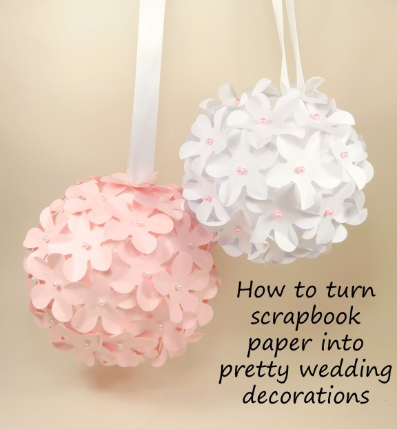 How to turn your scrapbook paper into floral wedding decorations