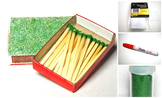 DIY decorate your own Xmas matchboxes