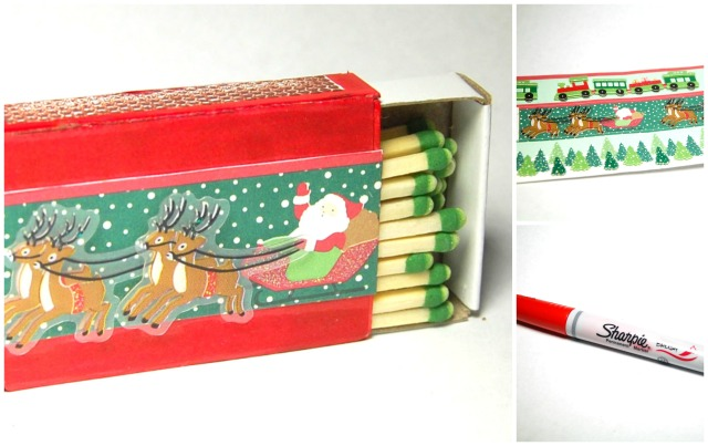 DIY easy decorative holiday matchboxes
