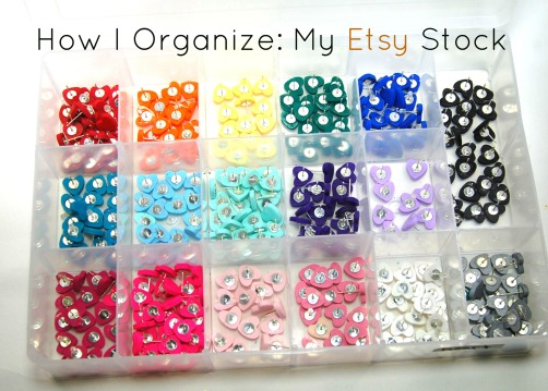 How I Organize My Etsy Stock