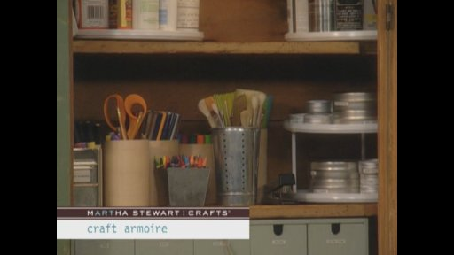 Watch with envy as Martha puts together a craft closet